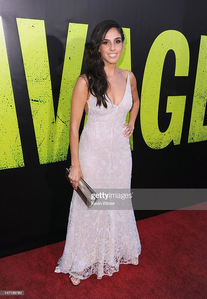Actress Sandra Echeverria arrives at Premiere of Universal Pictures' 'Savages' at Westwood Village on June 25, 2012 in Los Angeles, California.