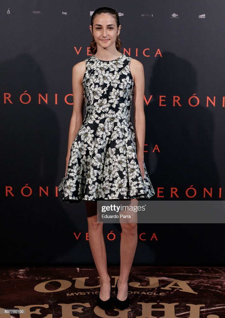 Actress Sandra Escacena attends a photocall for the film 'Veronica' at the Sony offices on August 23, 2017 in Madrid, Spain.