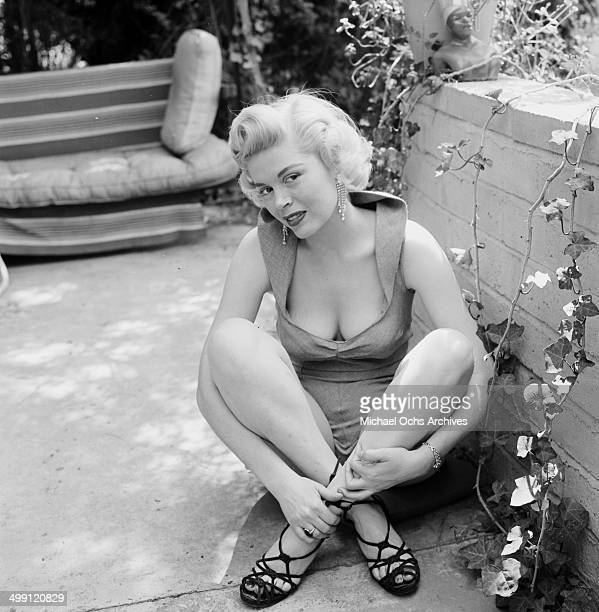 Actress Sandra Giles poses at home in Los Angeles California