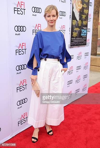 Actress Sandra Huller arrives at the AFI FEST 2016 Presented By Audi Screening Of Sony Pictures Classic's 'Toni Erdmann' at the Egyptian Theatre on...