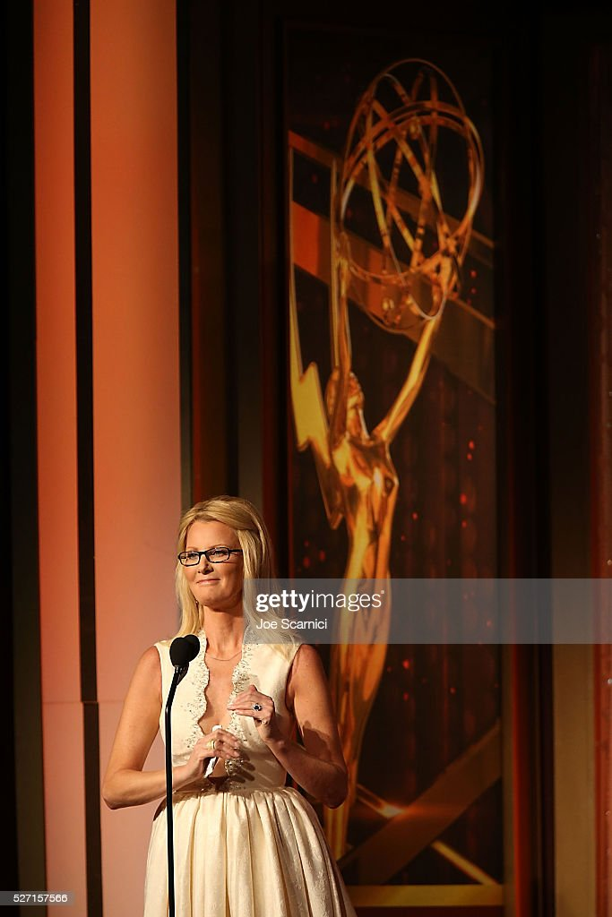 Actress <a gi-track='captionPersonalityLinkClicked' href=/galleries/search?phrase=Sandra+Lee+-+Television+Personality&family=editorial&specificpeople=242799 ng-click='$event.stopPropagation()'>Sandra Lee</a> speaks onstage at the 2016 Daytime Emmy Awards at Westin Bonaventure Hotel on May 1, 2016 in Los Angeles, California.