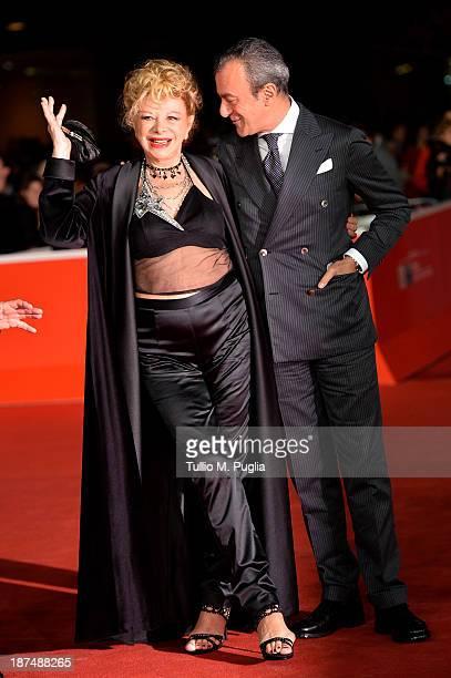 Actress Sandra Milo and director Antonello Sarno attend 'Federico Degli Spiriti' Premiere during The 8th Rome Film Festival at Auditorium Parco Della...
