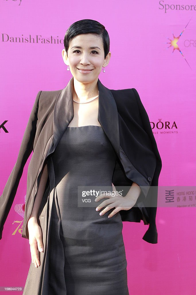 Actress Sandra Ng attends a catwalk show 'The World's Greatest Catwalk' at Victoria Harbour waterfront of Tsim Sha Tsui promenade on December 9, 2012 in Hong Kong, Hong Kong.