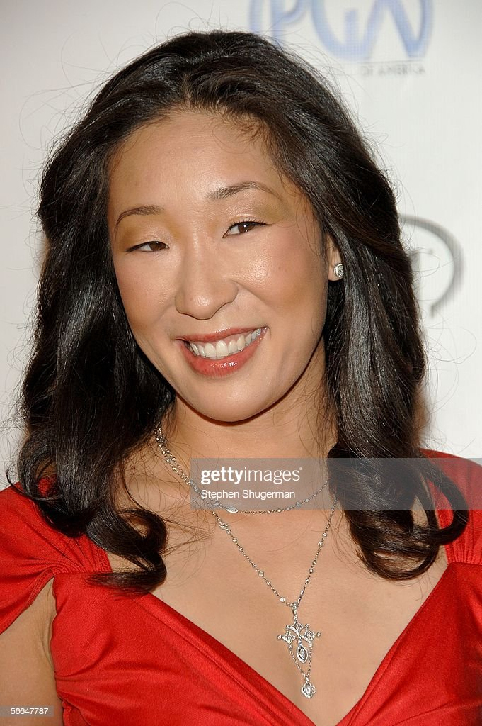 Actress Sandra Oh arrives at the 2006 Producers Guild awards held at the Universal Hilton on January 22 2006 in Universal City California