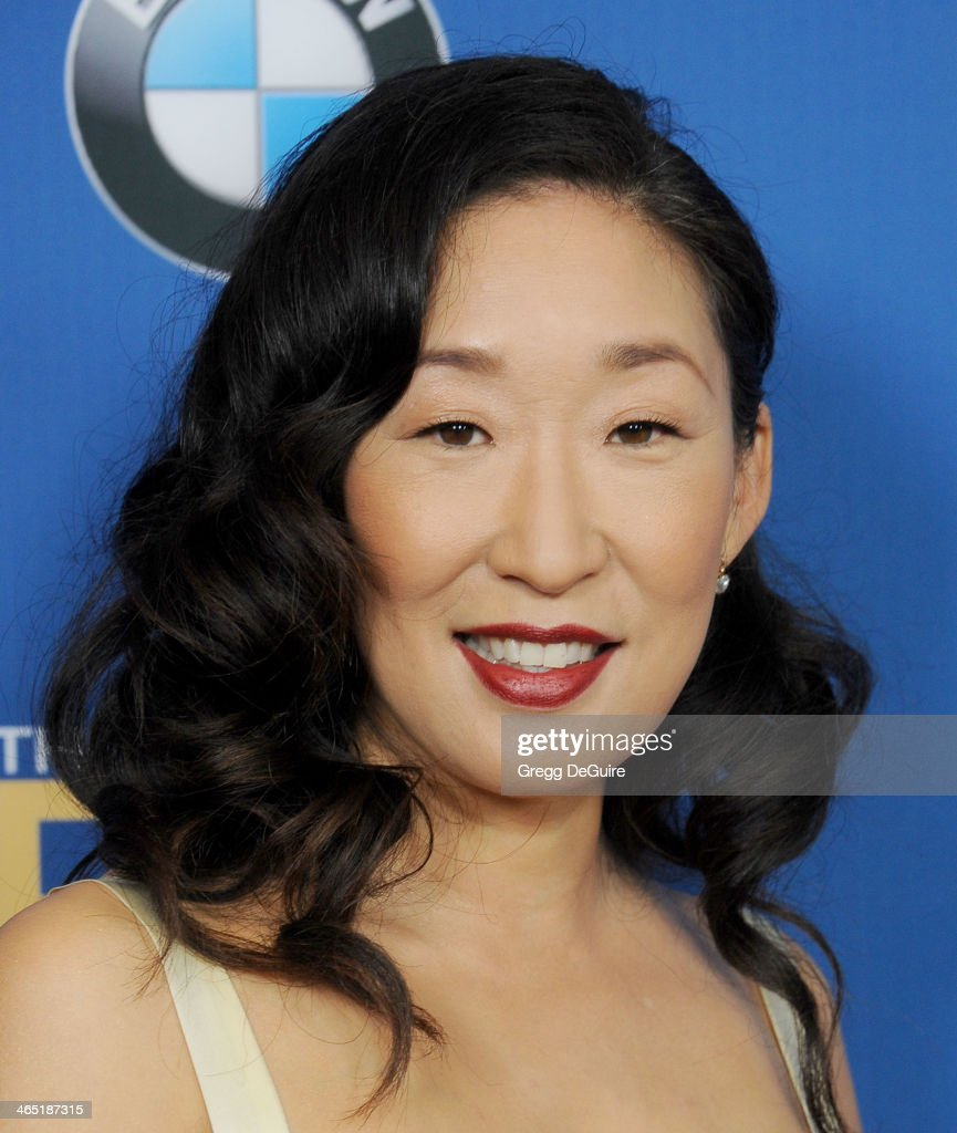 Actress <a gi-track='captionPersonalityLinkClicked' href=/galleries/search?phrase=Sandra+Oh&family=editorial&specificpeople=203096 ng-click='$event.stopPropagation()'>Sandra Oh</a> arrives at the 66th Annual Directors Guild Of America Awards at the Hyatt Regency Century Plaza on January 25, 2014 in Century City, California.