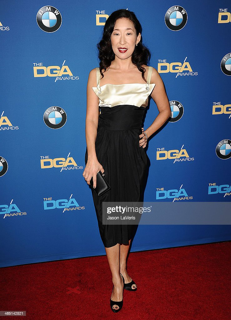 Actress <a gi-track='captionPersonalityLinkClicked' href=/galleries/search?phrase=Sandra+Oh&family=editorial&specificpeople=203096 ng-click='$event.stopPropagation()'>Sandra Oh</a> attends the 66th annual Directors Guild of America Awards at the Hyatt Regency Century Plaza on January 25, 2014 in Century City, California.