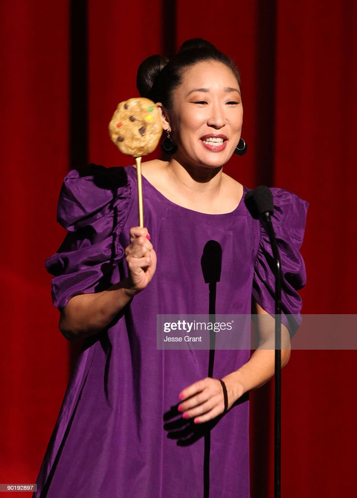 Actress Sandra Oh onstage at the 36th Annual Daytime Emmy Awards at The Orpheum Theatre on August 30, 2009 in Los Angeles, California.