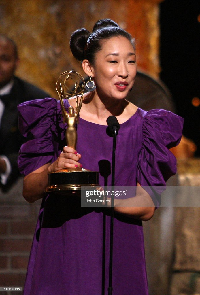 Actress Sandra Oh presents the cast of 'Sesame Street' with the Lifetime Achievemnet Award during the 36th Annual Daytime Emmy Awards at The Orpheum Theatre on August 30, 2009 in Los Angeles, California.