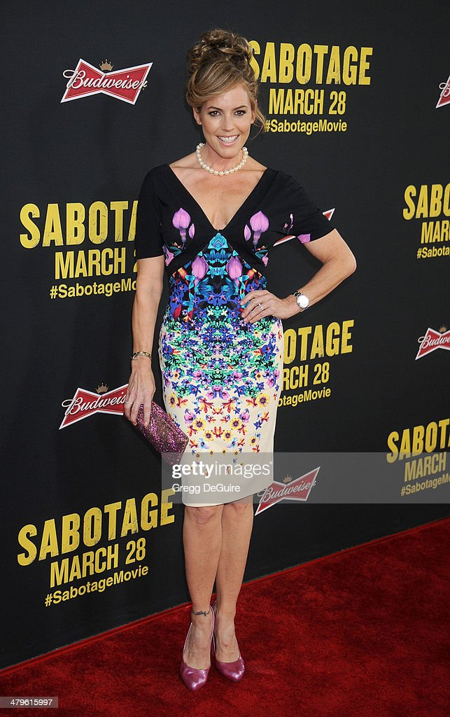 Actress Sandra Taylor arrives at the Los Angeles premiere of 'Sabotage' at Regal Cinemas L.A. Live on March 19, 2014 in Los Angeles, California.