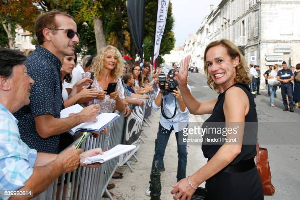 Actress Sandrine Bonnaire attends the 10th Angouleme FrenchSpeaking Film Festival Closing Ceremony on August 27 2017 in Angouleme France