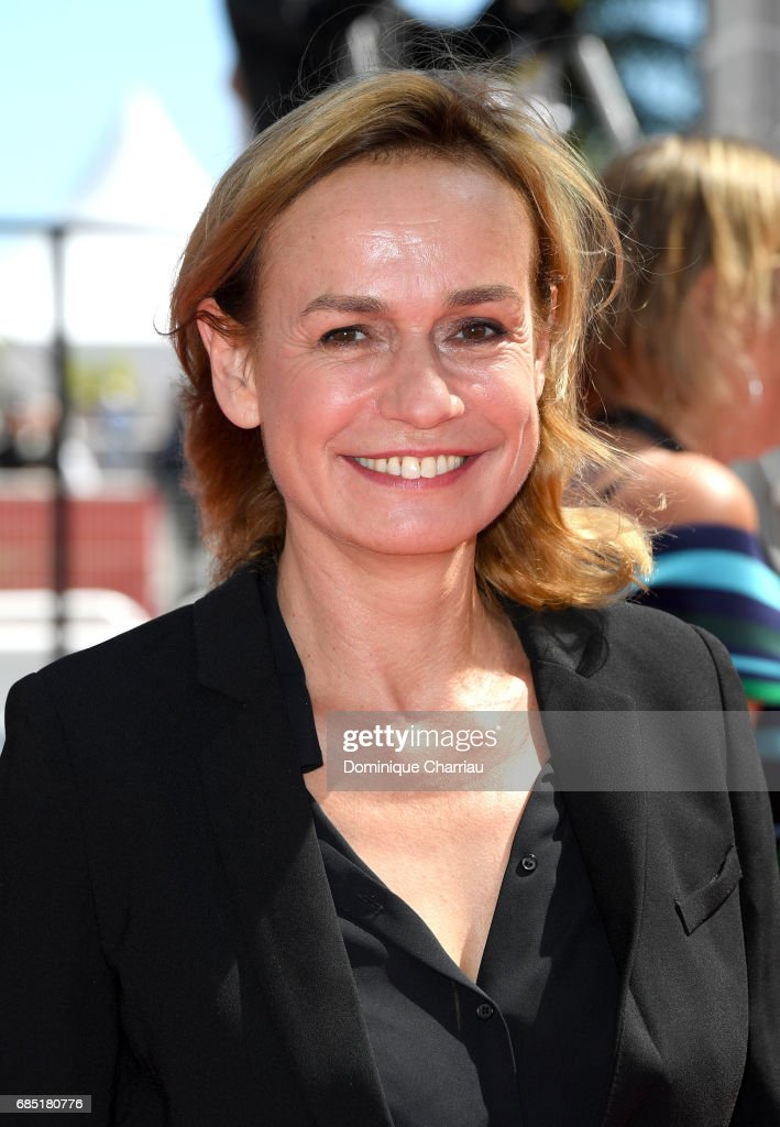 Actress Sandrine Bonnaire attends the 'Faces, Places (Visages, Villages)' screening during the 70th annual Cannes Film Festival at Palais des Festivals on May 19, 2017 in Cannes, France.