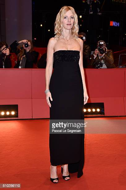 Actress Sandrine Kiberlain attends the 'Being 17' premiere during the 66th Berlinale International Film Festival Berlin at Berlinale Palace on...