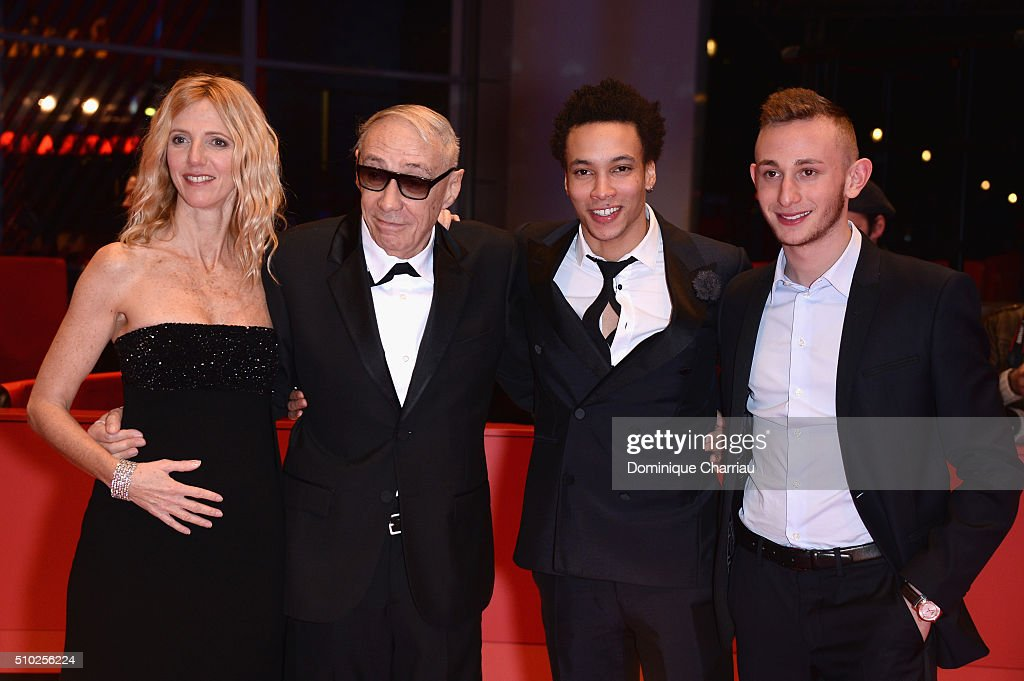 Actress <a gi-track='captionPersonalityLinkClicked' href=/galleries/search?phrase=Sandrine+Kiberlain&family=editorial&specificpeople=832890 ng-click='$event.stopPropagation()'>Sandrine Kiberlain</a>, director Andre Techine, actors Corentin Fila and Kacey Mottet Klein attend the 'Being 17' (Quand on a 17 ans) premiere during the 66th Berlinale International Film Festival Berlin at Berlinale Palace on February 14, 2016 in Berlin, Germany.