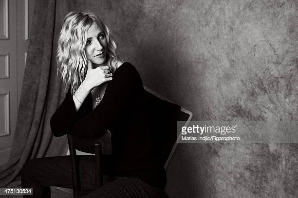 Actress Sandrine Kiberlain is photographed for Madame Figaro on January 19 2015 in Paris France Makeup by Givenchy Le Make Up CREDIT MUST READ Matias...