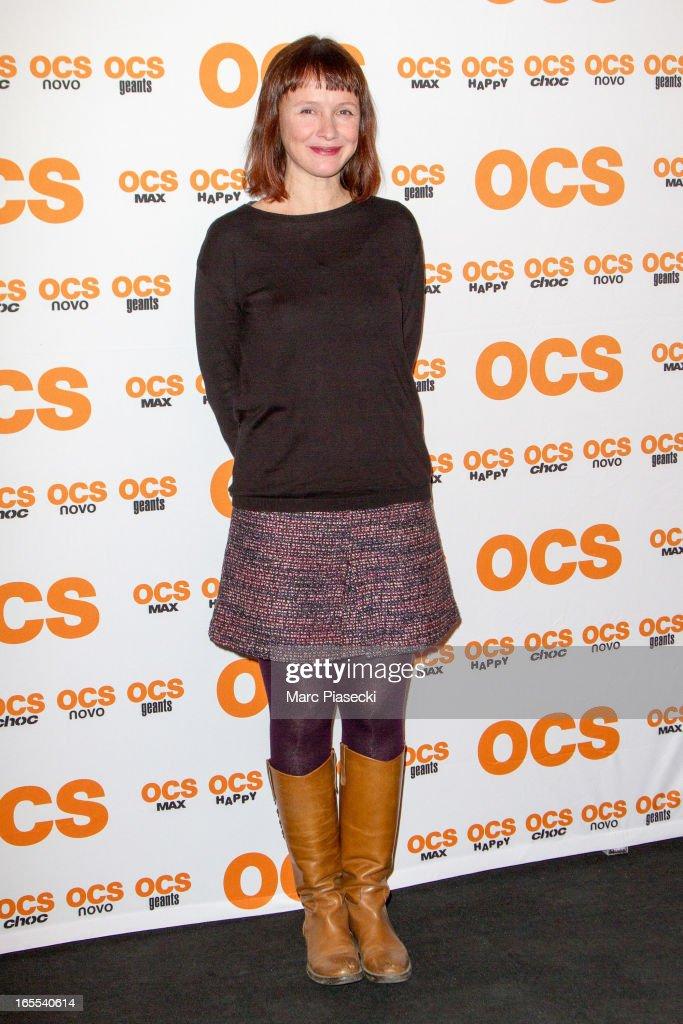 Actress Sandrine Le Berre attends the 'QI' Premiere at Forum Des Images on April 4, 2013 in Paris, France.