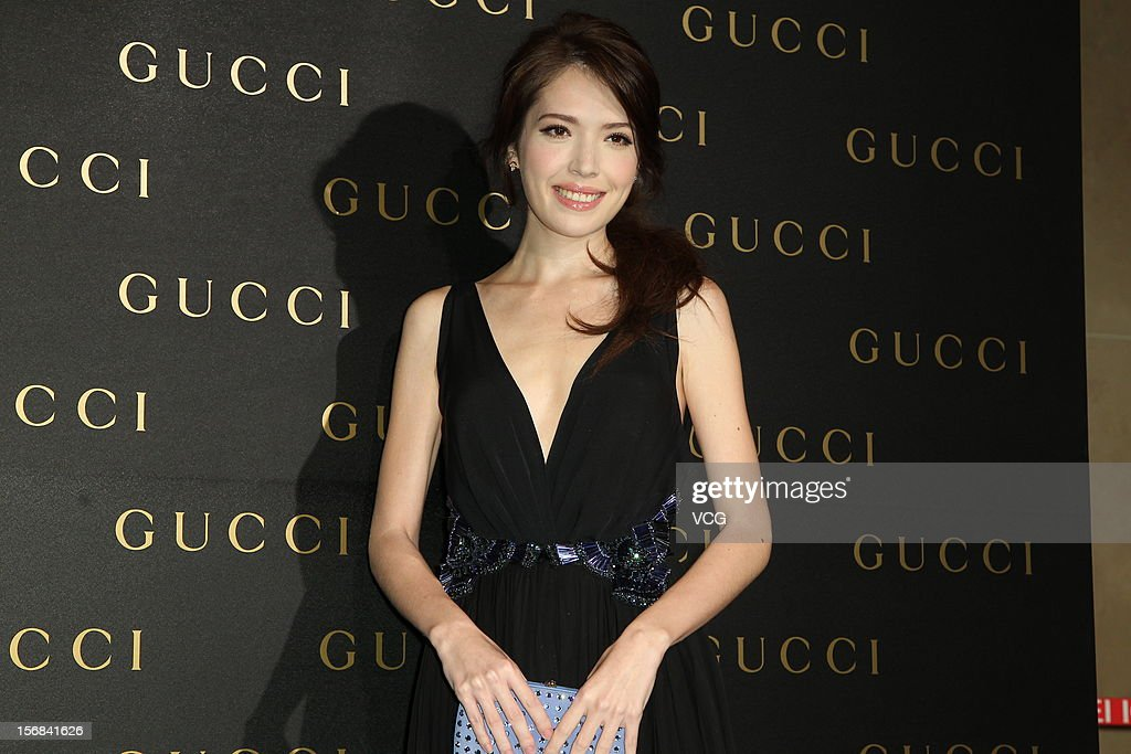Actress Sandrine Pinna attends Gucci store opening ceremony at Taipei 101 on November 22, 2012 in Taipei, Taiwan.