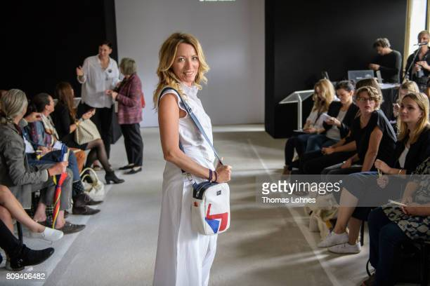 Actress Sanny van Heteren poses for before the Salonshow Greenshowroom during the MercedesBenz Fashion Week Berlin Spring/Summer 2018 at Funkhaus...