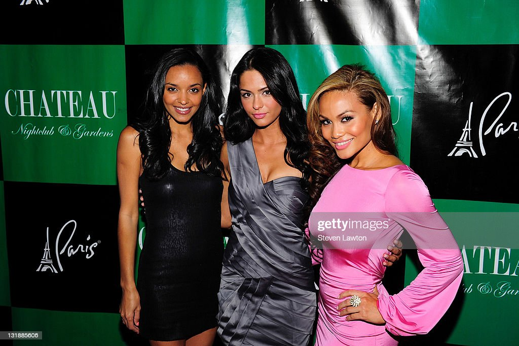 Actress Sanya Hughes, actress Antoinette Nikprelaj and actress Daphne Joy arrive to host an evening at Chateau Nightclub & Gardens on June 3, 2011 in Las Vegas, Nevada.