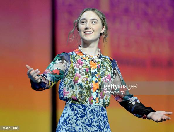 Actress Saoirse Ronan accepts the International Star Award onstage at the 27th Annual Palm Springs International Film Festival Awards Gala at Palm...