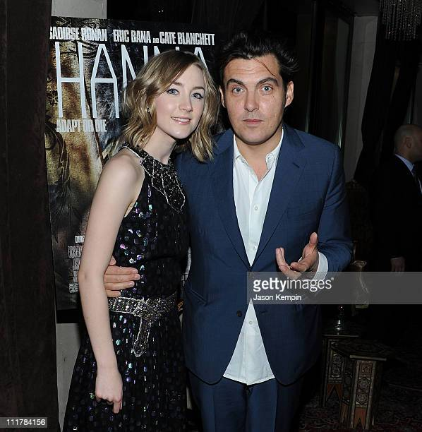 Actress Saoirse Ronan and director Joe Wright attend the after party for the New York screening of 'Hanna' at Casa La Femme on April 6 2011 in New...