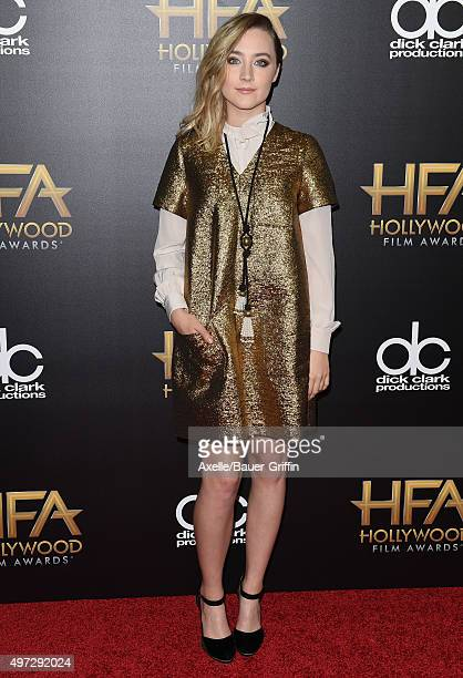 Actress Saoirse Ronan arrives at the 19th Annual Hollywood Film Awards at The Beverly Hilton Hotel on November 1 2015 in Beverly Hills California