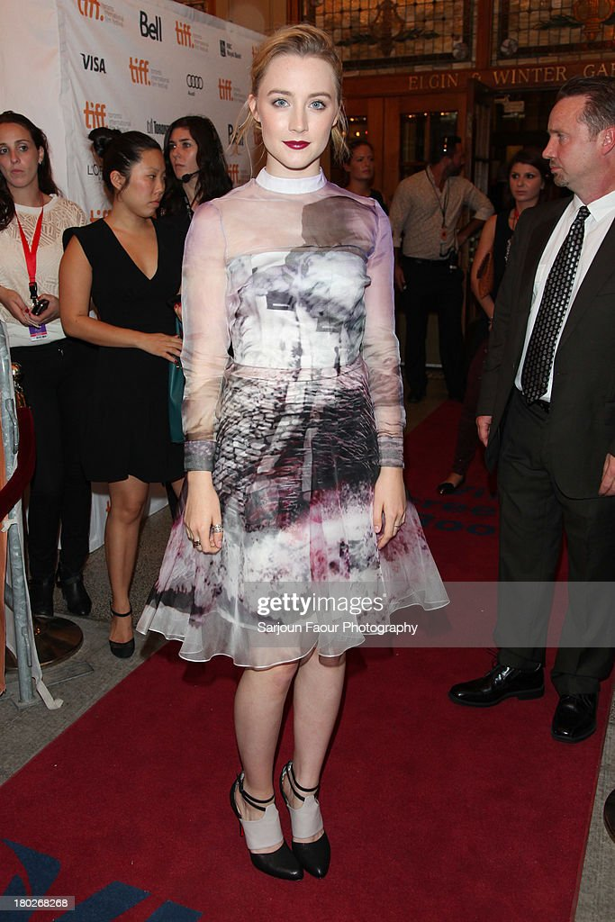 Actress Saoirse Ronan arrives at the 'How I Live Now' premiere during 2013 Toronto International Film Festival at Winter Garden Theatre on September...