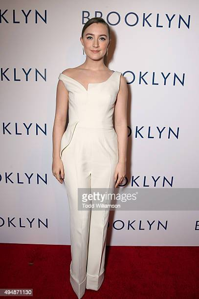 Actress Saoirse Ronan arrives at the Los Angeles premiere of Fox Searchlight's 'Brooklyn' at the Harmony Gold Theatre on October 29 2015 in Los...