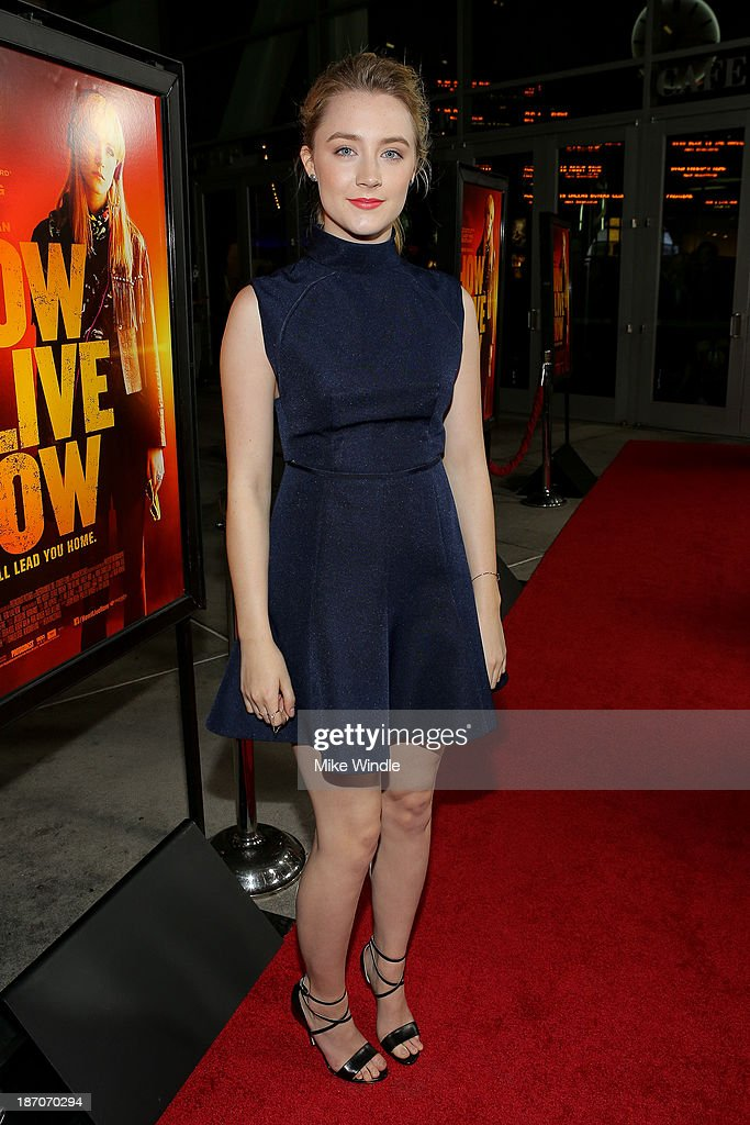 Actress Saoirse Ronan arrives at the premiere of Magnolia Pictures' 'How I Live Now' at ArcLight Hollywood on November 5 2013 in Hollywood California