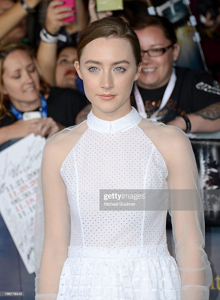 Actress Saoirse Ronan arrives at the premiere of Summit Entertainment's 'The Twilight Saga: Breaking Dawn - Part 2' at Nokia Theatre L.A. Live on November 12, 2012 in Los Angeles, California.