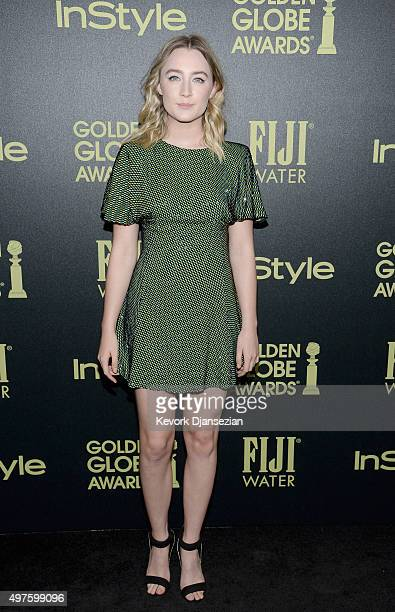 Actress Saoirse Ronan attends Hollywood Foreign Press Association and InStyle Celebration of The 2016 Golden Globe Award Season at Ysabel on November...