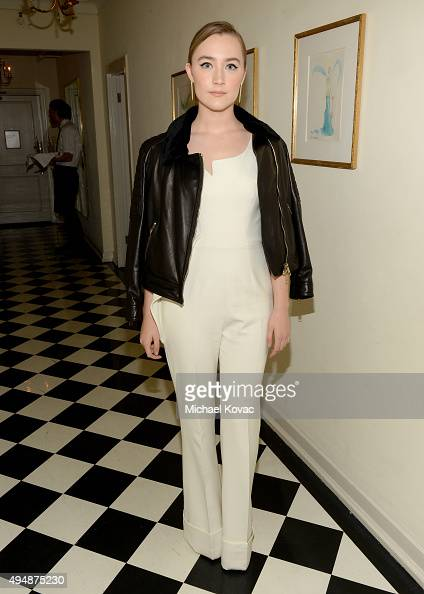Actress Saoirse Ronan attends James Corden Vanity Fair And Burberry Celebrate The 2015 British Academy BAFTA Los Angeles Britannia Awards on October...