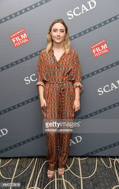 Actress Saoirse Ronan attends Talent Junket Interviews during Day Two of 18th Annual Savannah Film Festival Presented by SCAD on October 25 2015 in...