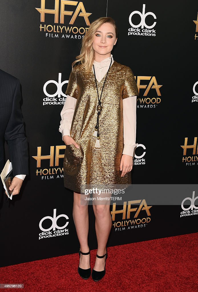 Actress Saoirse Ronan attends the 19th Annual Hollywood Film Awards at The Beverly Hilton Hotel on November 1 2015 in Beverly Hills California
