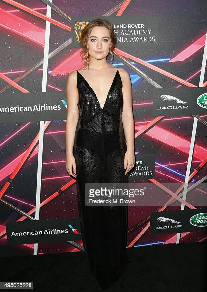 Actress Saoirse Ronan attends the 2015 Jaguar Land Rover British Academy Britannia Awards presented by American Airlines at The Beverly Hilton Hotel...