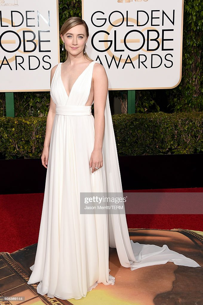Actress Saoirse Ronan attends the 73rd Annual Golden Globe Awards held at the Beverly Hilton Hotel on January 10 2016 in Beverly Hills California