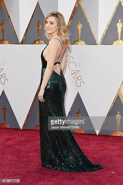 Actress Saoirse Ronan attends the 88th Annual Academy Awards at Hollywood Highland Center on February 28 2016 in Hollywood California