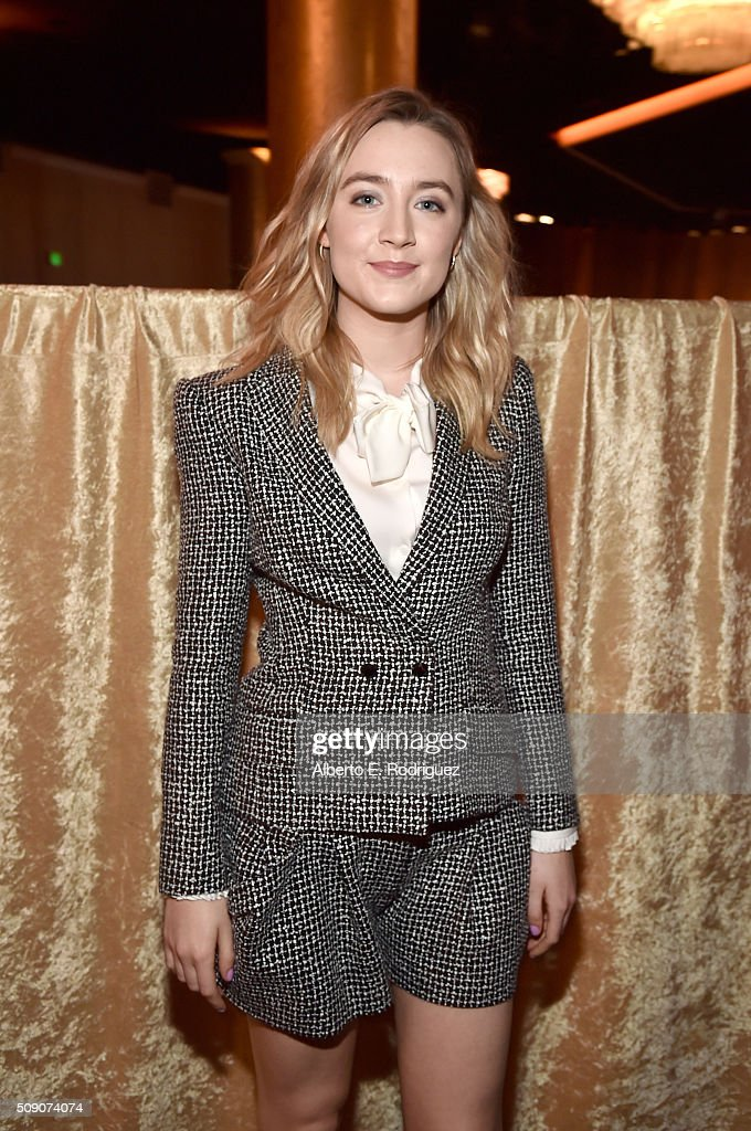 Actress Saoirse Ronan attends the 88th Annual Academy Awards nominee luncheon on February 8 2016 in Beverly Hills California