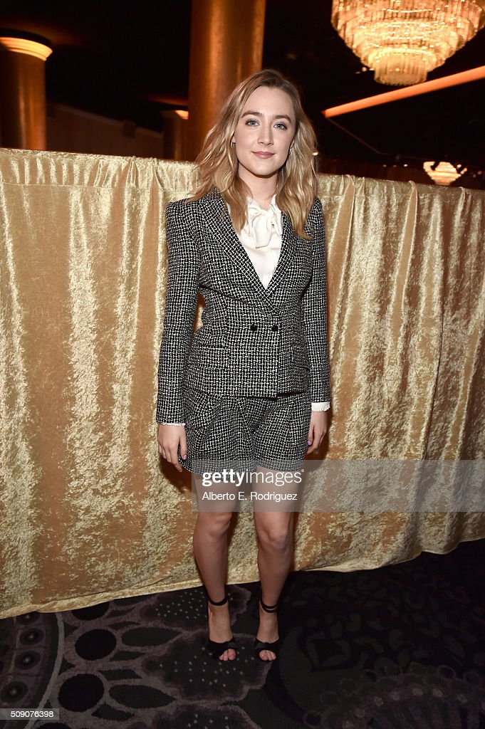 Actress <a gi-track='captionPersonalityLinkClicked' href=/galleries/search?phrase=Saoirse+Ronan&family=editorial&specificpeople=4475637 ng-click='$event.stopPropagation()'>Saoirse Ronan</a> attends the 88th Annual Academy Awards nominee luncheon on February 8, 2016 in Beverly Hills, California.