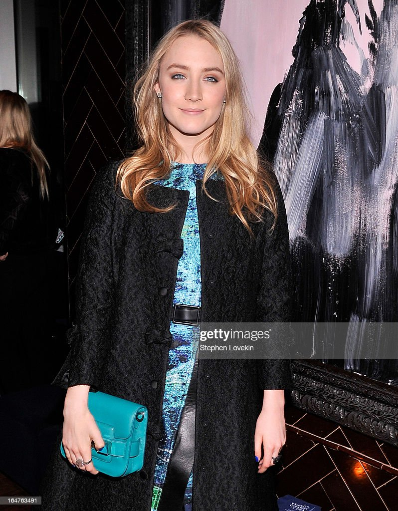 Actress Saoirse Ronan attends the after party for a screening of 'The Host' hosted by The Cinema Society & Jaeger-LeCoultre at Jimmy At The James Hotel on March 27, 2013 in New York City.