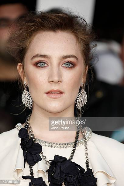 Actress Saoirse Ronan attends the 'Brooklyn' screening during the BFI London Film Festival on October 12 2015 in London England