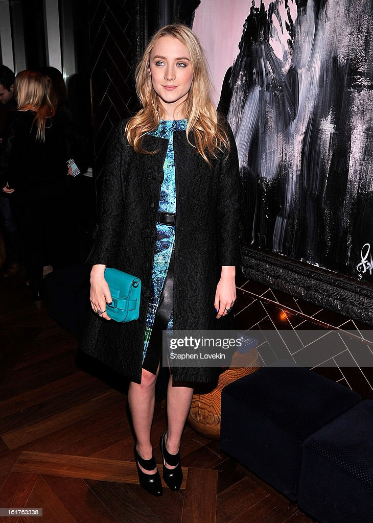 Actress Saoirse Ronan attends The Cinema Society & Jaeger-LeCoultre Hosts A Screening Of 'The Host' After Party at Jimmy At The James Hotel on March 27, 2013 in New York City.