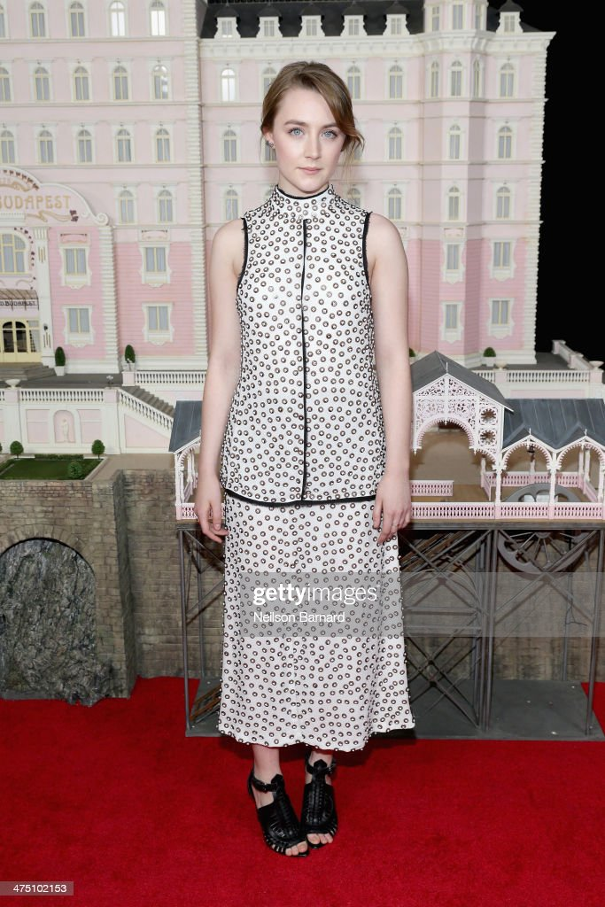 Actress Saoirse Ronan attends 'The Grand Budapest Hotel' premiere at Alice Tully Hall on February 26 2014 in New York City