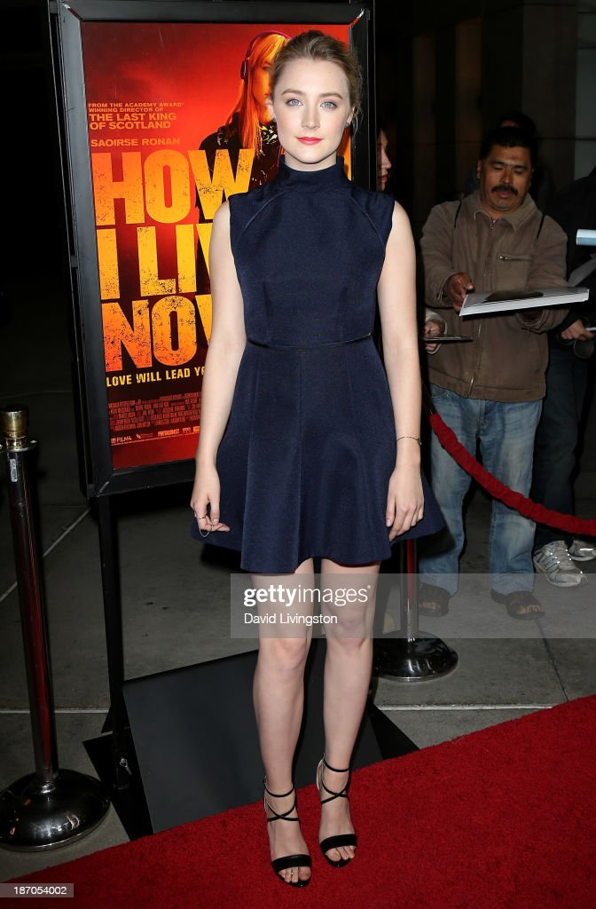 Actress Saoirse Ronan attends the premiere of Magnolia Pictures' 'How I Live Now' at ArcLight Hollywood on November 5 2013 in Hollywood California