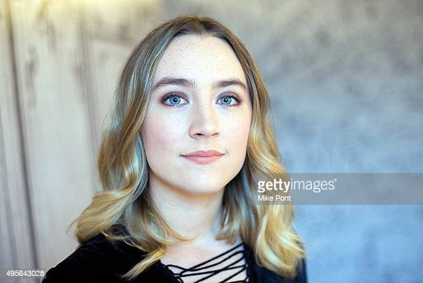 Actress Saoirse Ronan discusses her new movie 'Brooklyn' at AOL Studios In New York on November 4 2015 in New York City