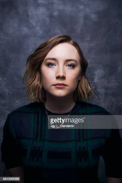 Actress Saoirse Ronan is photographed for Los Angeles Times at the 2015 Sundance Film Festival on January 24 2015 in Park City Utah PUBLISHED IMAGE...