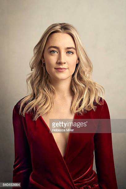 Actress Saoirse Ronan is photographed for The Hollywood Reporter on February 14 2016 in London England