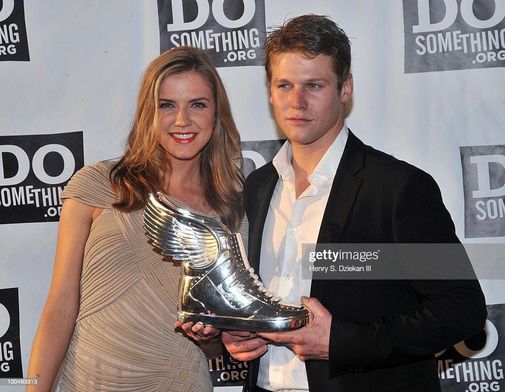 Actress Sara Canning and actor <a gi-track='captionPersonalityLinkClicked' href=/galleries/search?phrase=Zach+Roerig&family=editorial&specificpeople=4859108 ng-click='$event.stopPropagation()'>Zach Roerig</a> attend DoSomething.org's celebration of the 2010 Do Something Award nominees at The Apollo Theater on May 24, 2010 in New York City.