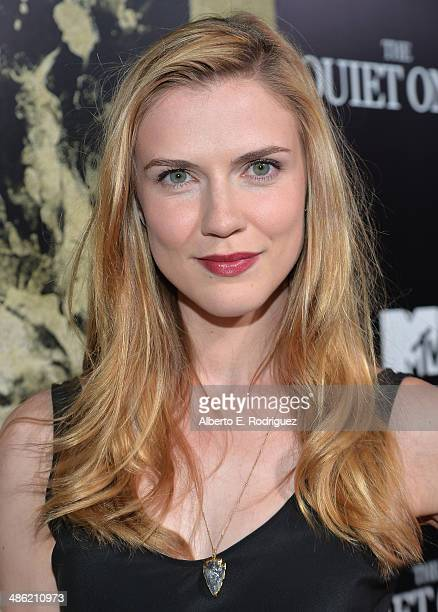 Actress Sara Canning arrives to the Los Angeles Premiere of Lionsgate Films' 'The Quiet Ones' at The Theatre At Ace Hotel on April 22 2014 in Los...