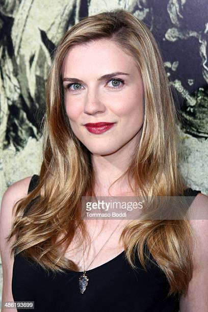 Actress Sara Canning attends the 'The Quiet Ones' Los Angeles premiere held at The Theatre At Ace Hotel on April 22 2014 in Los Angeles California