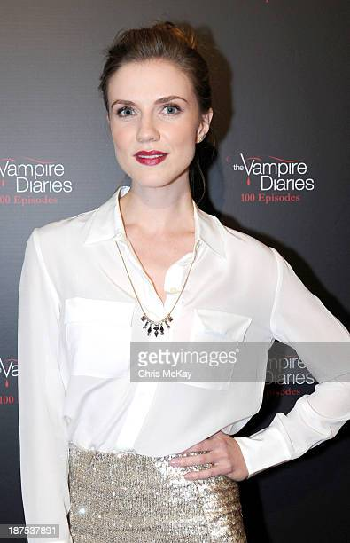 Actress Sara Canning attends The Vampire Diaries 100th Episode Celebration on November 9 2013 in Atlanta Georgia